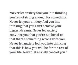 anxiety, inspirational, and quote image