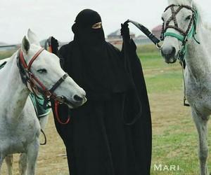 horse and muslima image