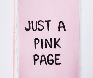 pink, page, and book image