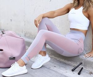 workout, workout clothes, and fit image