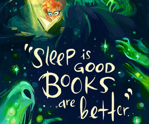 book, quotes, and sleep image