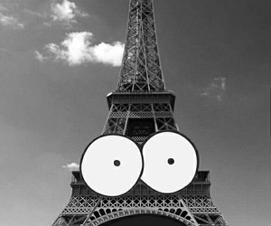 black and white, eiffel tower, and wallpaper image