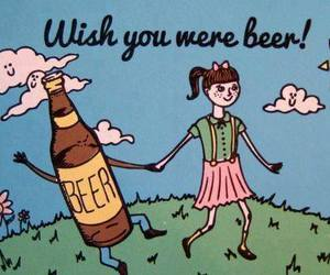 beer, girl, and love image
