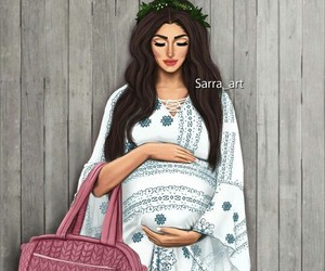 pregnant, art, and wife image
