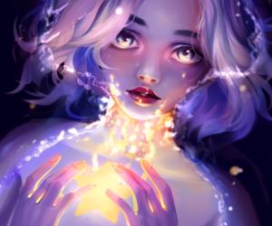 anime girl, art, and digital art image