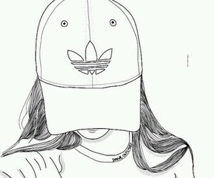 adidas, tumblr, and outline image