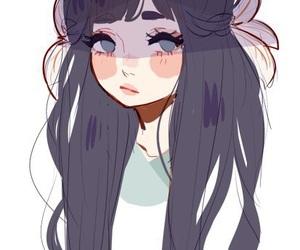 girl, art, and cute image