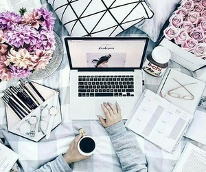 flowers, coffee, and school image