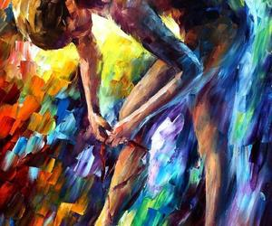 ballerina, art, and painting image