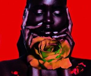 black woman, flowers, and african american woman image