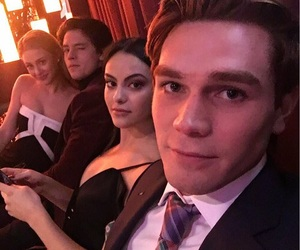 cole sprouse, kj apa, and camila mendes image