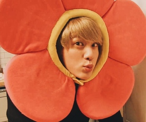 bts, jin, and flower image