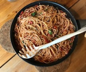 noodles, pasta, and spaghetti image