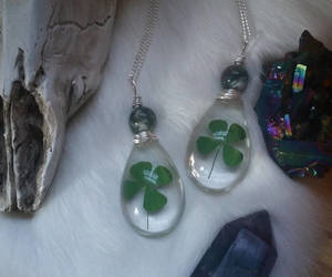 clover, etsy, and four leaf clover image