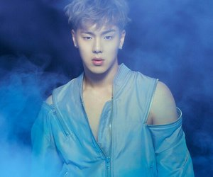 blue, hot guy, and smoke image