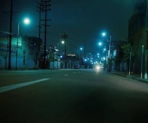 dark, glow, and urban image