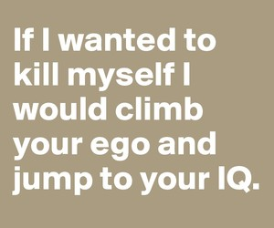 iq, ego, and funny image