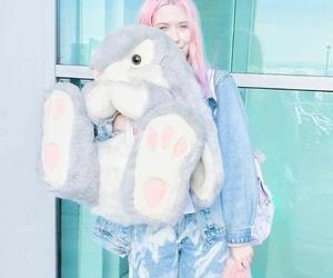 Kayla, pink, and rabbit image