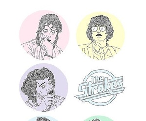 the strokes, wallpaper, and lockscreen image