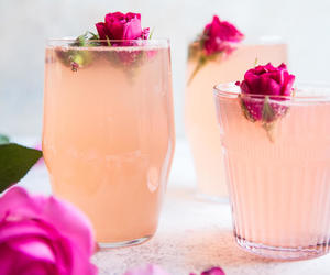rose, drink, and pink image