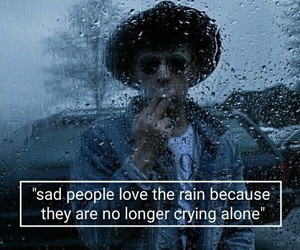 rain, sad, and quotes image