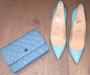 blue, chanel, and shoes image