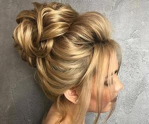 beautiful, bridal, and bun image