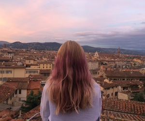 city, italy, and sunset image