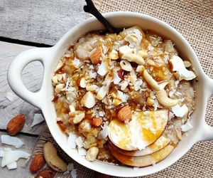 almonds, apples, and oatmeal image