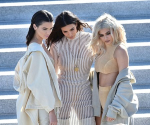 kendall jenner, kim kardashian, and kylie jenner image