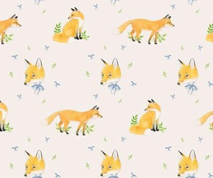 wallpaper, fox, and background image