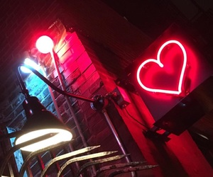 glow, heart, and red image