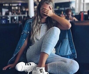girl, adidas, and style image