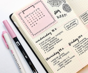 school, journal, and study image