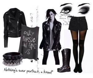 black, boots, and bracelet image