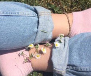 aesthetic, flowers, and socks image