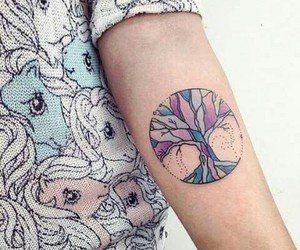 tattoo, colors, and tree image