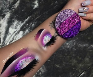makeup, glitter, and art image