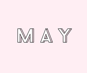 may, months, and pastel image