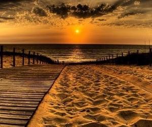 beautiful, sea, and sky image