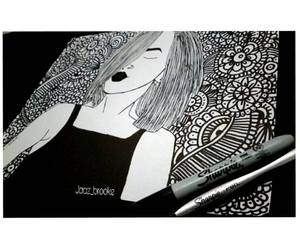 art, outlines, and Sharpie image