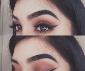 makeup, eyes, and eyebrows image