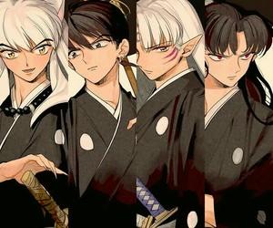 inuyasha, miroku, and anime image