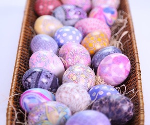 easter eggs, holiday, and spring image