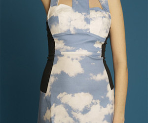 clouds, dress, and fashion image
