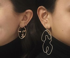 earrings, aesthetic, and art image