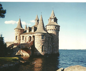 castle, sea, and ocean image