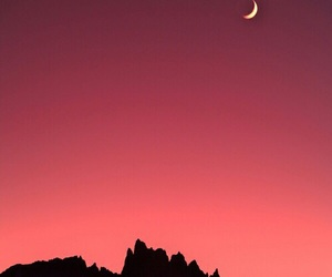 moon, sky, and mountains image