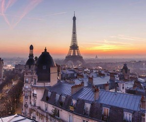 great view, paris, and sunset image
