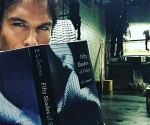 ian somerhalder, the vampire diaries, and book image